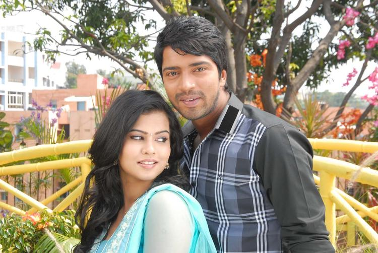 Allari And Sharmila Nice Look With Cute Smiling Still From Movie Kevu Keka