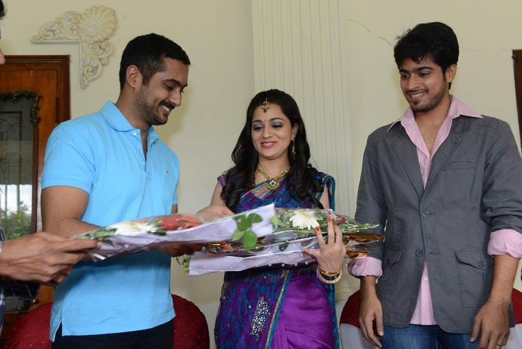 Reshma And Uday Spotted At Reshma Birthday Bash At Jai Sriram Movie Sets