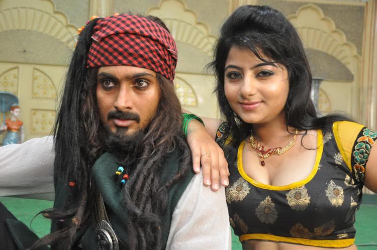 Uday And Reshma Cool Still On The Sets Of Jai Sriram Movie