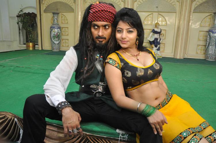 Uday And Reshma Nice Pose For Camera On The Sets Of Jai Sriram Movie