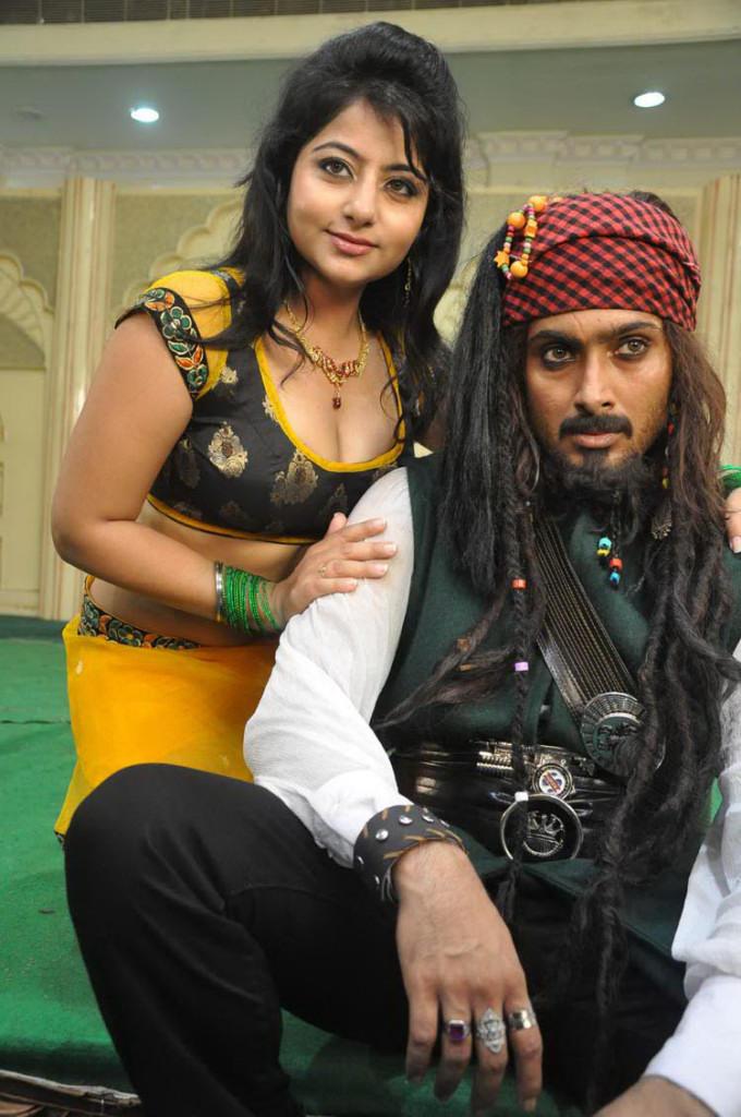 Uday And Reshma Smiling Still On The Sets Of Jai Sriram Movie