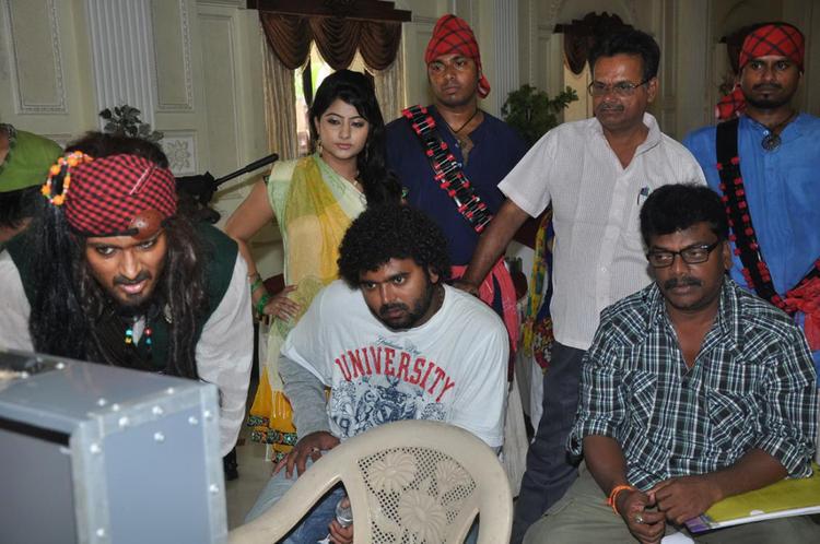 Uday Working Still On The Sets Of Jai Sriram Movie