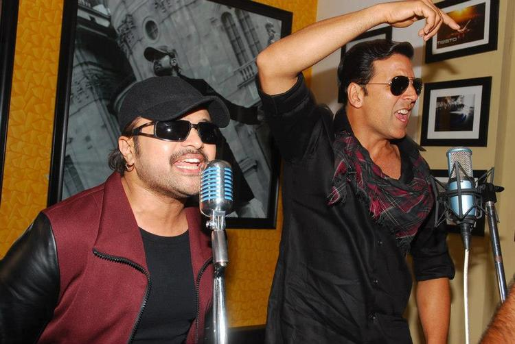 Akshay And Himesh Photo At Lonely Remix Video Shooting