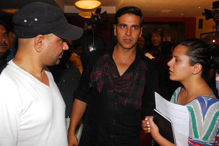 Akshay And Rakesh Snapped  At Lonely Remix Video Shooting