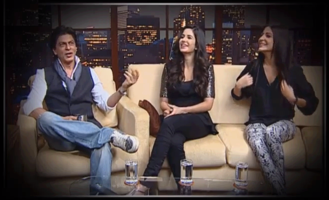 Shahrukh,Anushka And Katrina Spotted On The Show ETC Bollywood Business