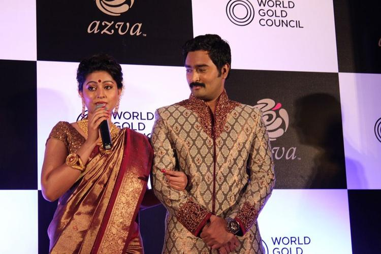 Sneha And Prasanna Attend The Launch Of World Gold Council Jewellery Collection