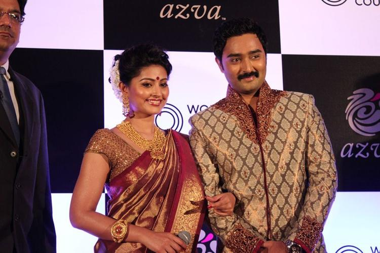 Sneha And Prasanna Clicked At World Gold Council Jewellery Launch