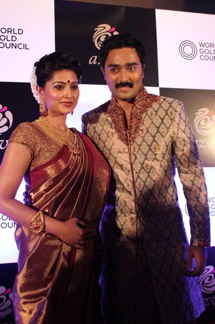 Sneha And Prasanna During The Launch Of World Gold Council Jewellery Collection