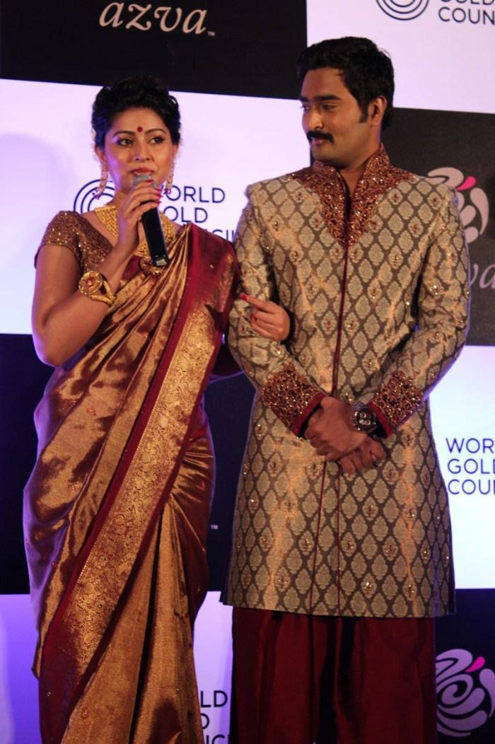 Sneha And Prasanna Launches Azva Jewellery Wedding Collections At WGC Jewellery
