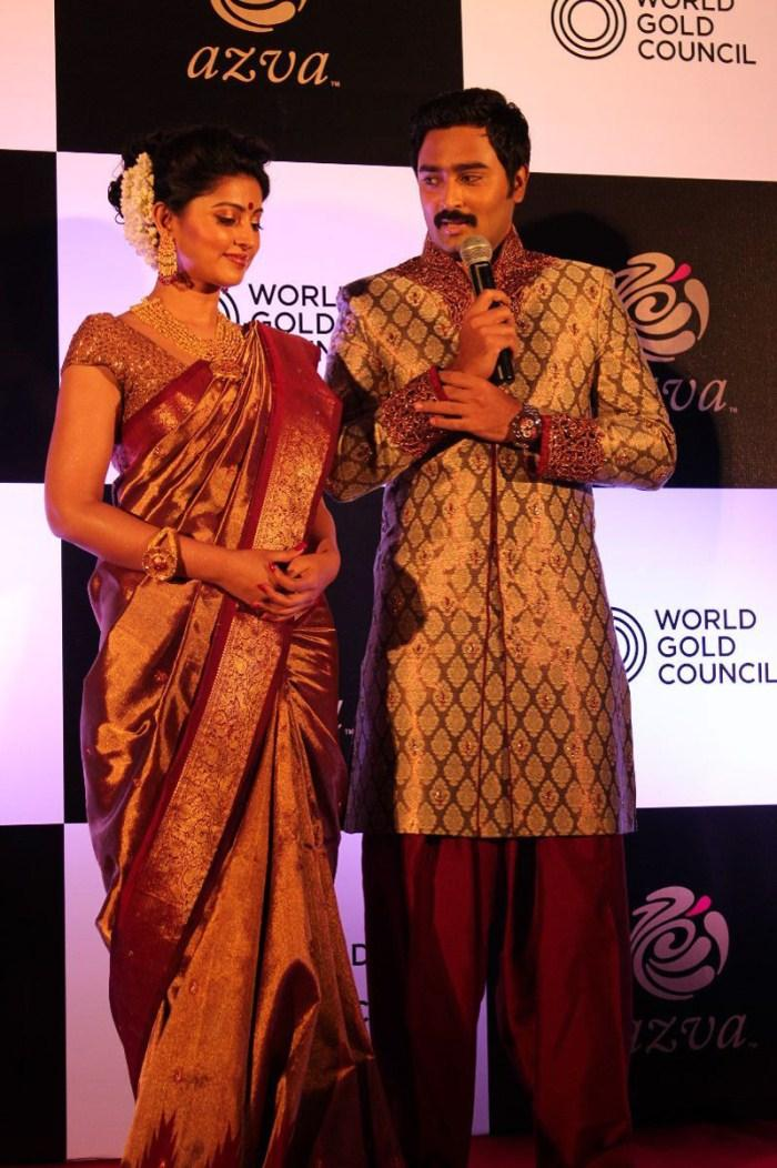 Sneha And Prasanna Snapped At World Gold Council Jewellery Launch