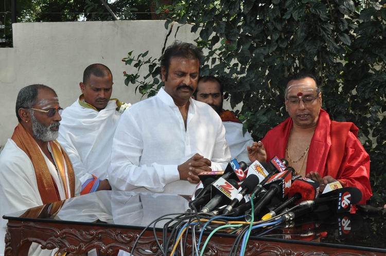 Mohan Babu Spotted At Tirupati Brahmins Press Meet
