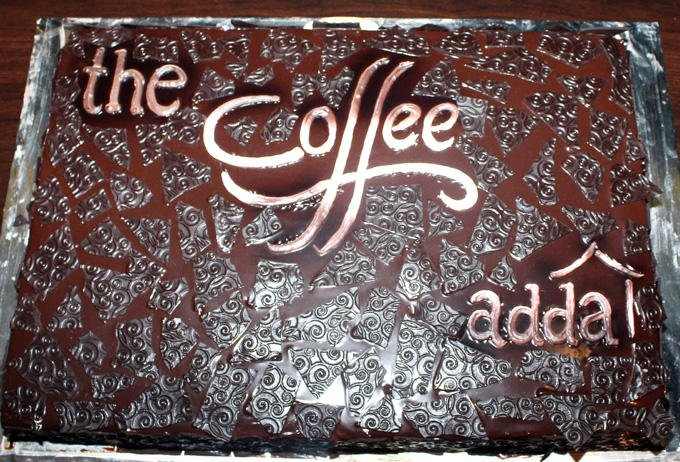A Cake On The Launch Of Coffee Adda