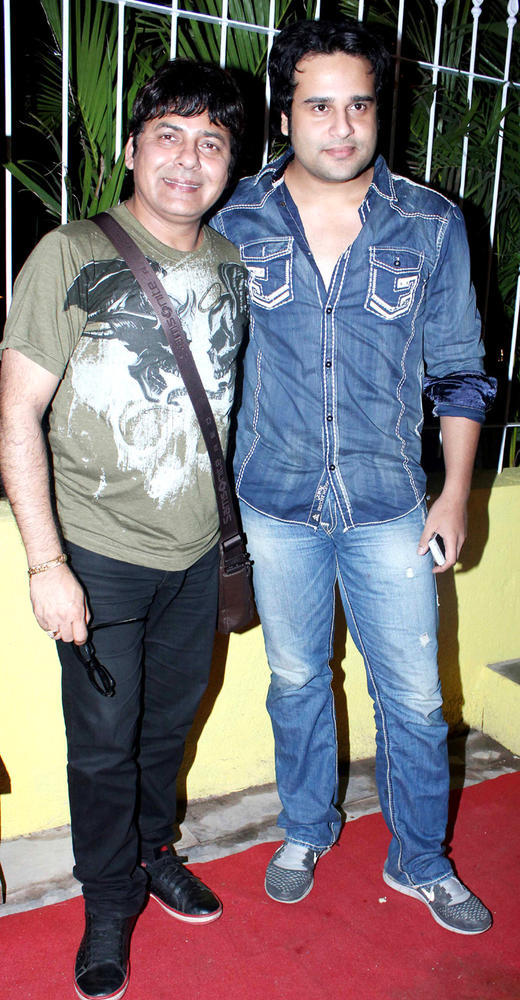 Krishna Abhishek And Sudesh Lehri During The Launch Of Coffee Adda
