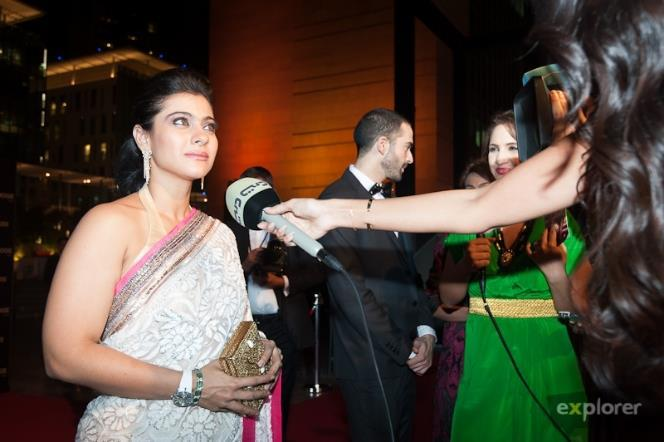 Kajol Looking Hot In Indian Saree At Roger Dubuis Launch In Dubai