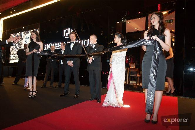 Kajol,Gerard And Jean Marc Inaugurated The Roger Dubuis Store In Dubai