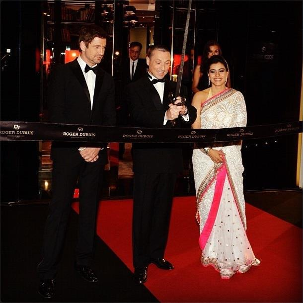 Kajol,Gerard And Jean Marc Spotted At Roger Dubuis Boutique Opening Event