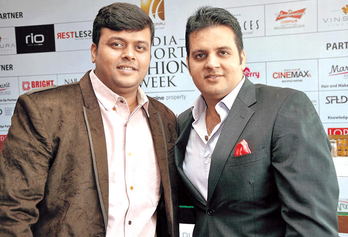 Nikhil Oza And Sushil Sharma Posed At India Resort Fashion Week 2012