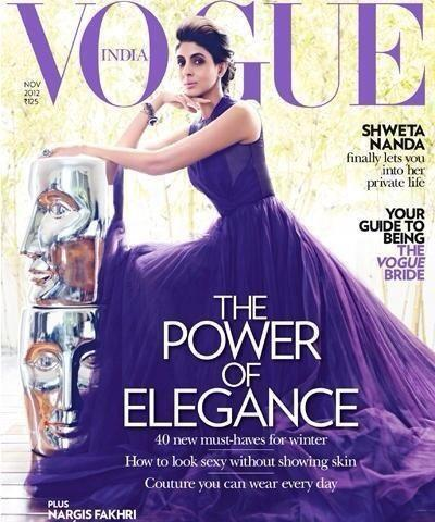 Shweta Nanda On Cover Of Vogue Nov 2012