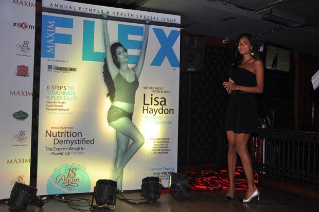Lisa Haydon Sizzling On The Cover Of Maxim Flex Health And Fitness Magazine