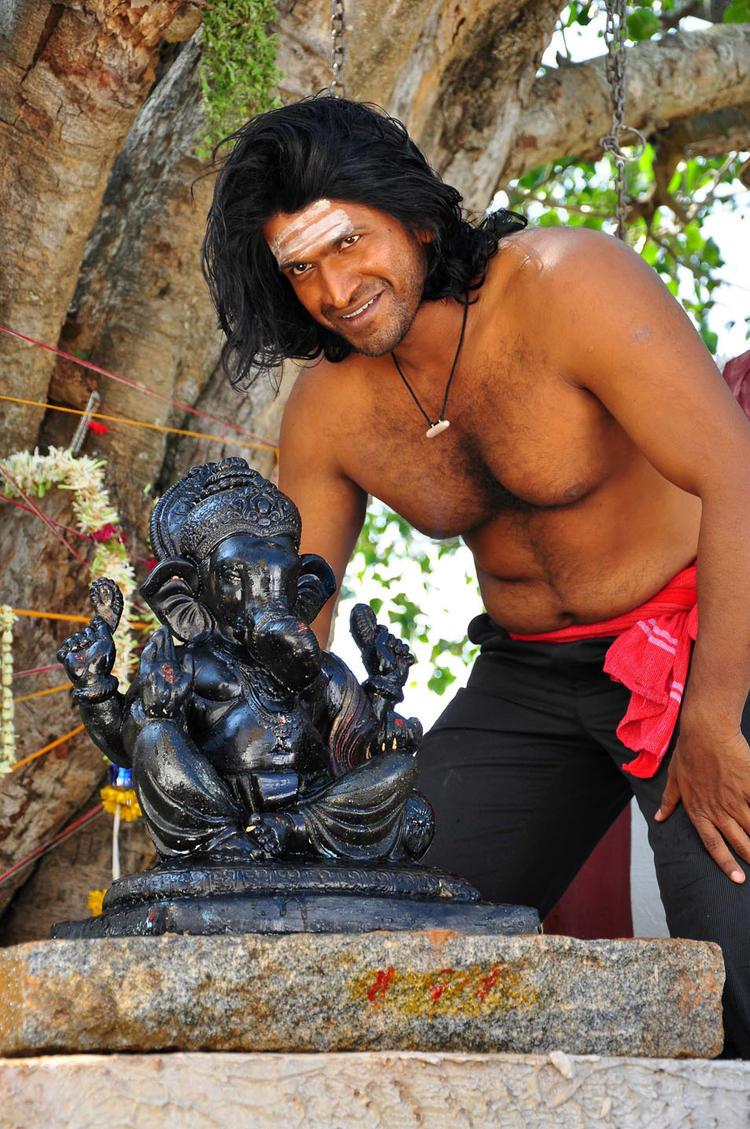 Puneeth Bare Body Worship Photo From Yaare Koogadali Kannada Movie
