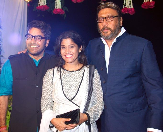 Ashutosh,Renuka With Jackie Snapped At Ashutosh Rana Birthday Bash