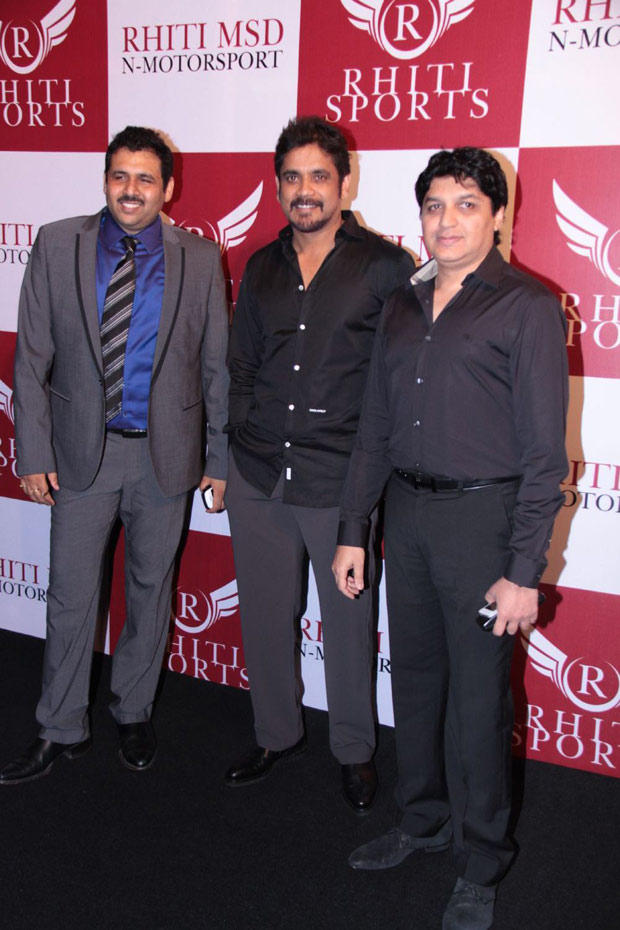 Nagarjuna Posed During The Launch Of  Mahi Racing Team India