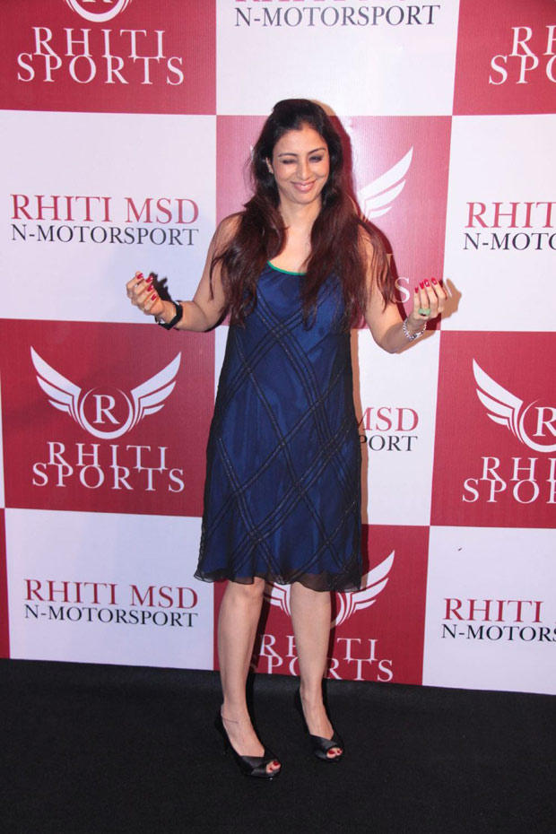 Tabu At Launch The Mahi Racing Team India