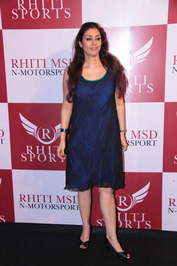 Tabu Pose For Camera At Dhoni Bike Racing Launch