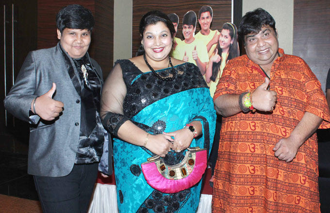 Kush,Ambika And Azad Posed For Camera At The Taarak Mehta Ka Ooltah Chashmah 1000th Episode Bash