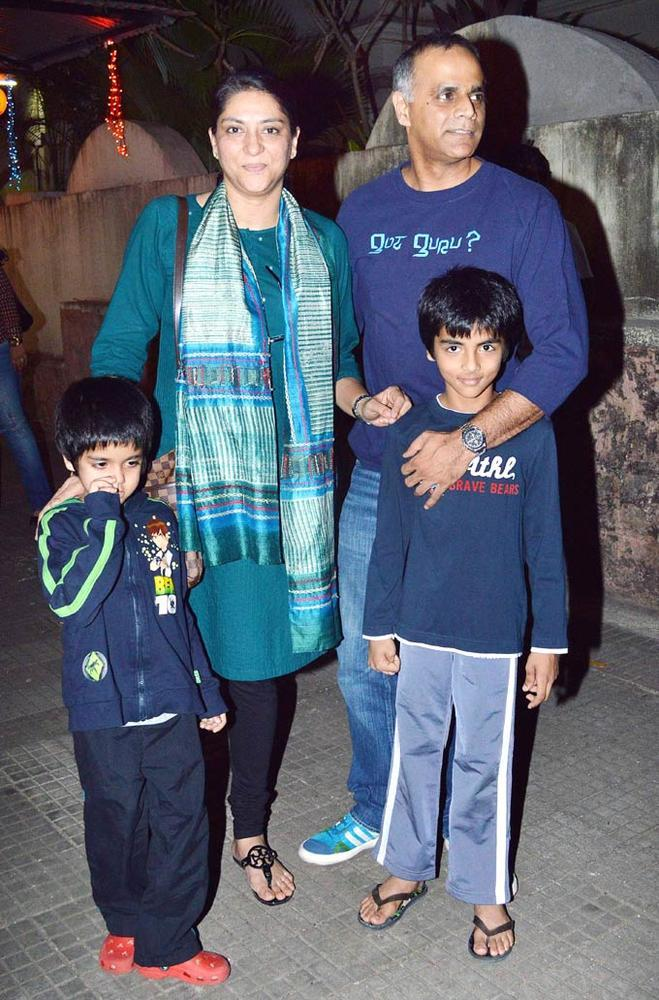 Priya Dutt With Family Photo Clicked At Son Of Sardaar Screening