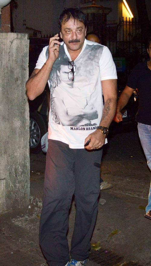 Sanjay Dutt Spotted At Son Of Sardaar Screening Held In Mumbai