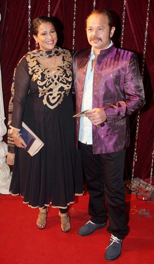 Raj Zutshi With A Friend Posed For Camera On Red Carpet At The Zee Risthey Awards