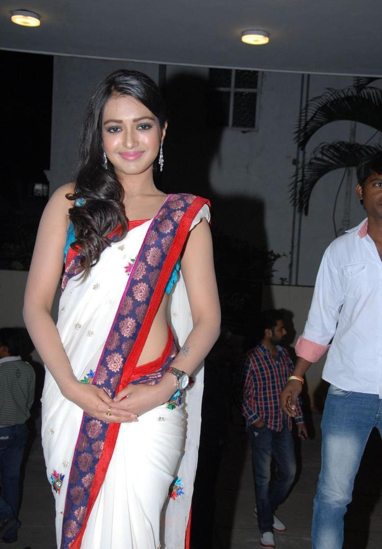 Catherine Completed Her Look With Flowing Hair At Chammak Challo Audio Release Function
