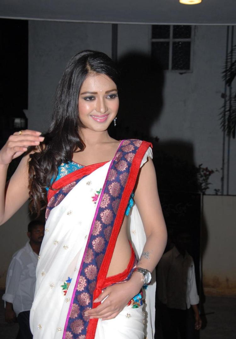 Catherine Looked Radiant And Beautiful In Saree At Chammak Challo Audio Release Function