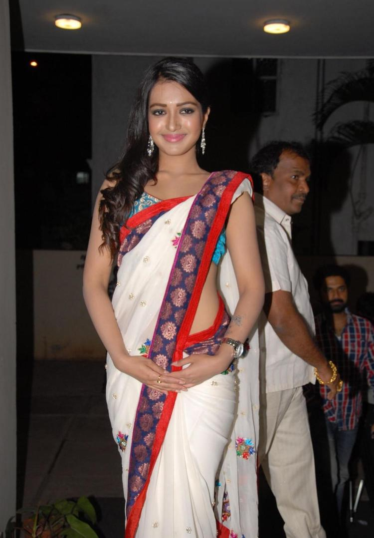 Catherine Spotted At Chammak Challo Audio Release Function
