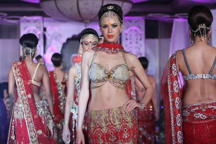 A Model Walk On The Ramp For  Rohit Verma And Shilpa Marigold Fashion Show IGNITE