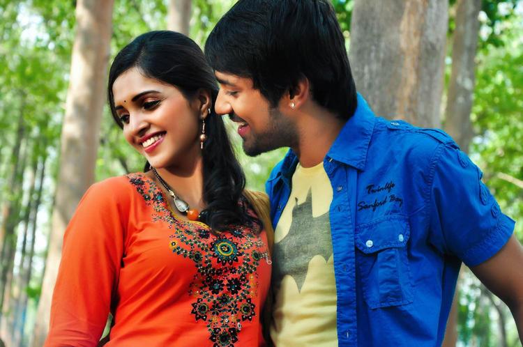 Varun And Sanchita Smiling Face Still From Chammak Challo Movie Song