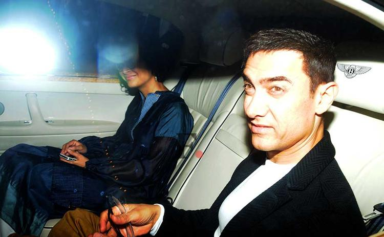 Aamir With Wife Kiran Spotted At Ritesh Sidhwani Diwali Party