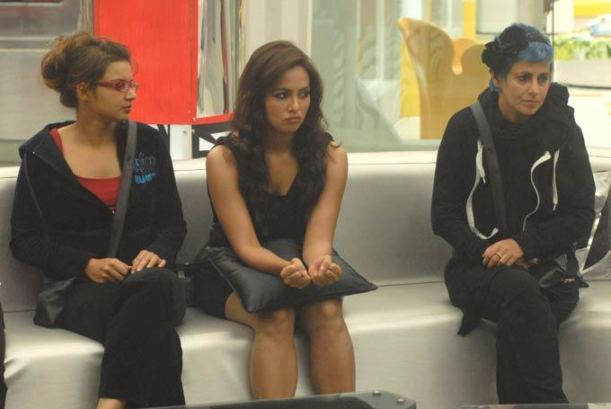 Sana Khan And Sapna Bhavnani On Bigg Boss House