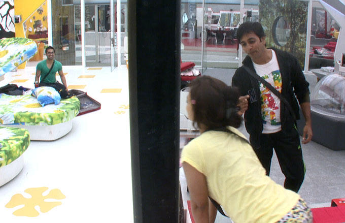 Sana,Rajeev And Vishal Are In The Bigg Boss House
