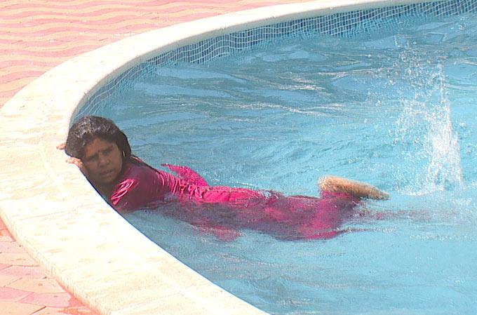 Sampat Pal Swimming Still On Bigg Boss 6