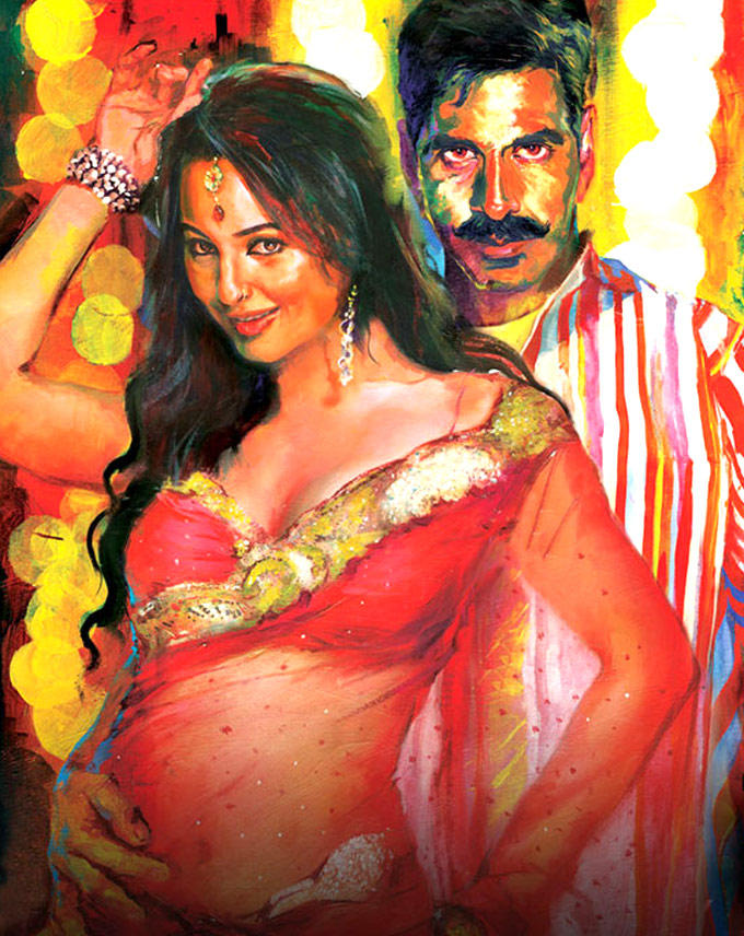 Askhay Kumar And Sonakshi Sinha On Rowdy Rathore Poster