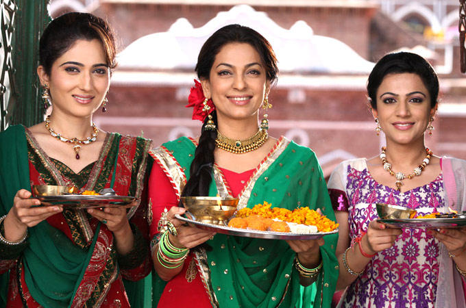 Juhi Chawla In A Still From Son Of Sardaar