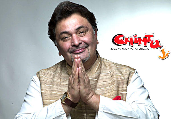 Rishi Kapoor Smiling Still On The Chintu Movie Poster