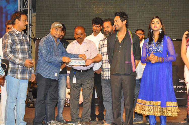 Varun And Sanchita Spotted On The Stage At Chammak Challo Audio Release
