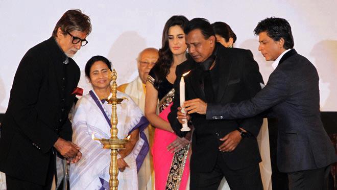 Amitabh And Mithun Inaugurates Photo AT The 18th Kolkata International Film Festival 2012