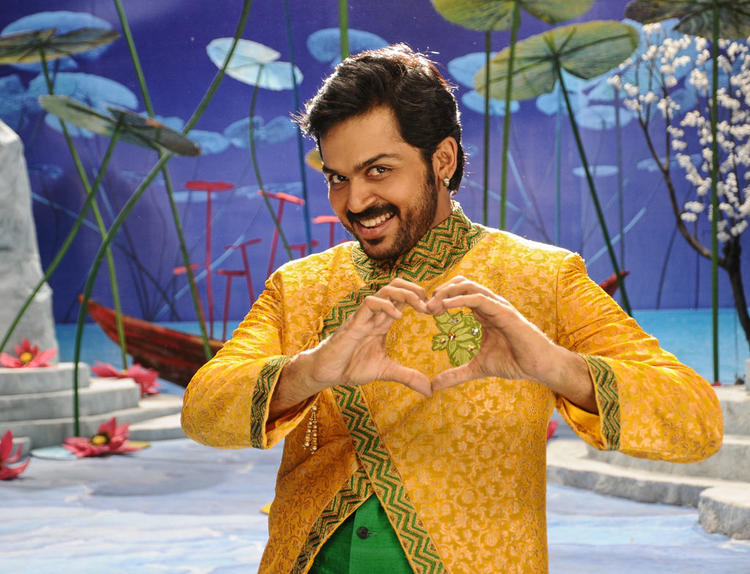 Karthi Cool Smiling Still From Bad Boys Movie Song