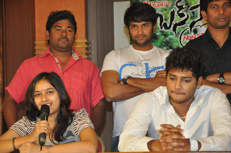 Prince And Sri Divya Photo Clicked While Talking To Press At Bus Stop Press Meet