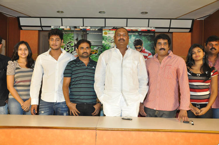 Prince,Rakshitha,Sri Divya,Maruthi And Bellamkonda Posed For Camera At Bus Stop Press Meet