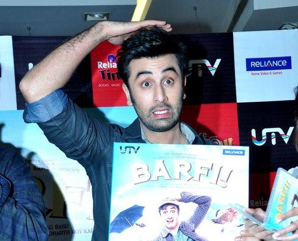 Ranbir In Awesome Look While Unveil The Barfi Dvd